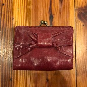 HOBO wallet/travel purse - deep red - leather